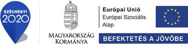 Széchenyi 2020 logo, Magyarország Kormánya, Európai unió Európa szociális Alap Befektetés a jövőbe